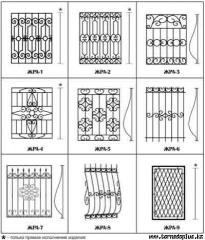 Решетки металлические Алматы, Изделия из металла