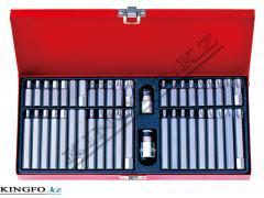 Набор вставок (бит) 10 мм, TORX, SPLINE, HEX, 44