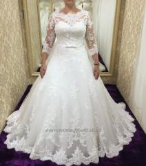 Wedding dress with sleeves of Almaty
