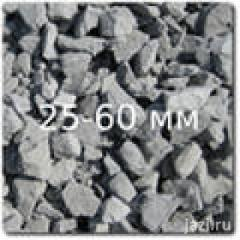 Crushed stone of fraction of 25-60 mm
