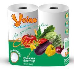 Бумажные полотенца VEIRO CLASSIC, 2 рул./упак.