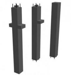 Columns are reinforced concrete