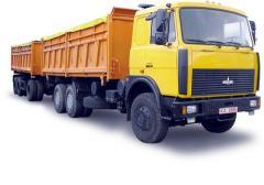 Самосвал МАЗ-551608-236. Технические