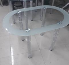 Стеклянный обеденный стол 1100*700*800мм