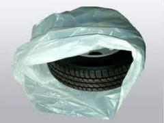 Plastic bags for packaging of tires