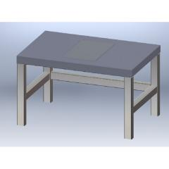 Anti-vibration table for carrying out the ICSI