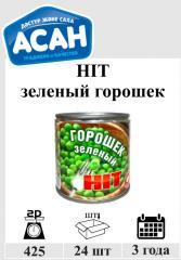 Консервированный зеленый горошек Казахстан