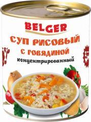 Суп рисовый с говядиной