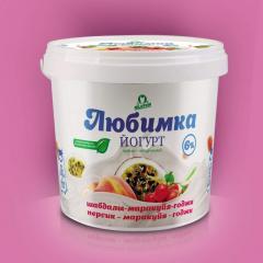 Йогурт персик-маракуйя-годжи