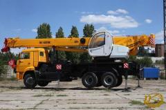 """Mobile crane KS-5576K, 32 m boom """"Kamyshinsky"""