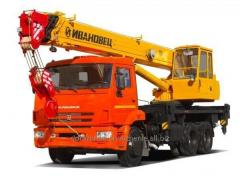 The truck crane the Resident of Ivanovo of 25 tons
