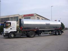 Bitumovoz Massenza, System of heating we heat oil