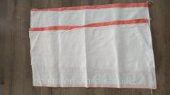 Мешки белые с красными полосами размером...