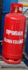 Газ в баллонах 50 литров (Производства Южная Корея