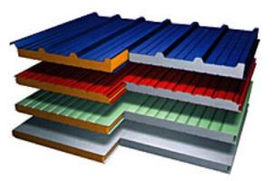 Wall and roofing panels with a heater from