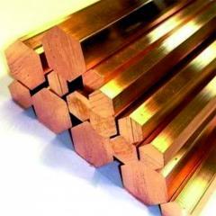 Шестигранник бронзовый 10 мм БрБ2 (CuBe2Ni(Co))
