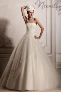 Классическо Свадебное платье А-силуэт айвори