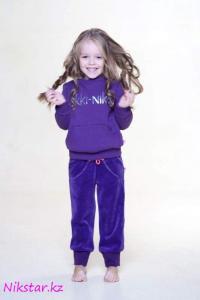 Теплый свитшот с пайетками фиолетовый