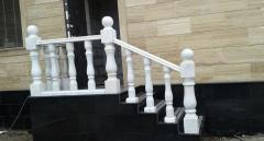 Rail-posts, white marble