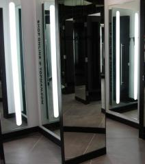 Cabin fitting rooms for clothing stores