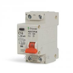 Дифференциальный автомат iPower АД12 1P+N 20A 30mA