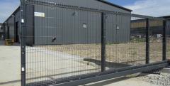 Gate are sliding rail