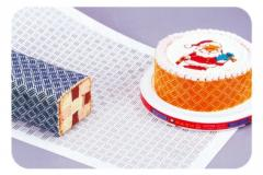 Plastic cliches for registration of pies and cakes
