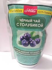 Листовой черный чай с голубикой,  100 гр, ...