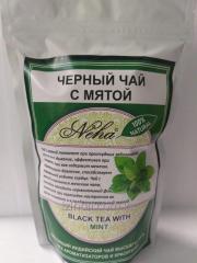 Черный чай с мятой,  100 гр,  Neha