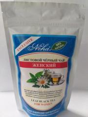 Листовой черный чай,  Женский,  100 гр,  Neha