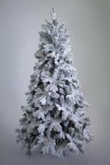 Комнатная елка Барокко заснеженная световая премиум класса 2.1