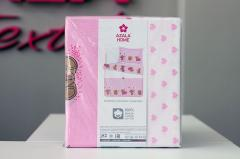 Постельное белье детское 'Мишка Ми' - Ранфорс в розовом