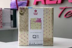 Комплект постельного белья 'Зайка' в розовом - Бязь