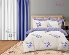 Комплект постельного белья 'Морфида - в синем' - Сатин «AZALA Textile»