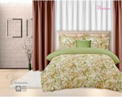 Комплект постельного белья 'Пейсли - в зеленом' - Сатин «AZALA Textile»
