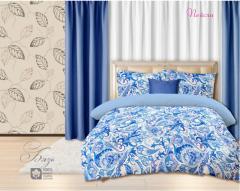 Комплект постельного белья 'Пейсли' в синем - Бязь «AZALA Textile»