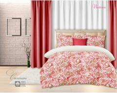 Комплект постельного белья 'Пейсли - в красном' - Сатин «AZALA Textile»