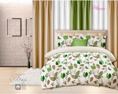 Комплект постельного белья 'Аврора' в зеленом - Бязь «AZALA Textile»
