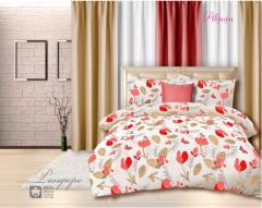 Комплект постельного белья 'Аврора' в красном - Бязь «AZALA Textile»