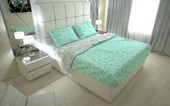 Комплект постельного белья 'Сердечки' в мятном - Ранфорс «AZALA Textile»