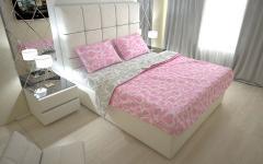 Комплект постельного белья 'Сердечки' в розовом - Ранфорс «AZALA Textile»