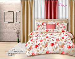 Комплект постельного белья 'Аврора' в красном - Ранфорс «AZALA Textile»