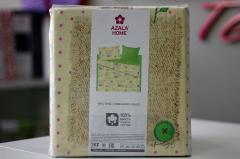 Комплект постельного белья 'Зайка' в зеленом - Бязь «AZALA Textile»