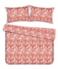 Комплект постельного белья 'Ажур' в красном - Сатин «AZALA Textile»