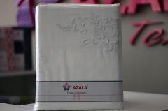Комплект постельного белья с вышивкой - Сатин «AZALA Textile»