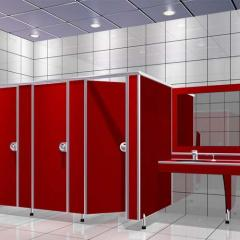 Sanitary toilet cabins