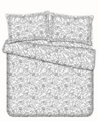 Комплект постельного белья 'Ретро 2' в сером - Сатин «AZALA Textile»