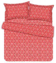 Комплект постельного белья 'Глория' в красном - Бязь «AZALA Textile»