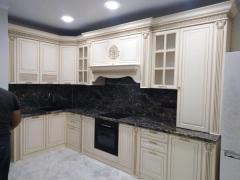 Кухонный гарнитур Валенсия 3,60 (угол 1,65) Левада Мебель крем
