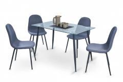 """Комплект \""""Клэр\"""" (1+4) Домини мебель 1200х700х740 (черный)"""